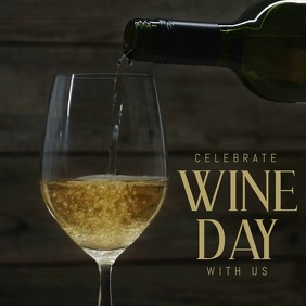 wine day template Message Instagram