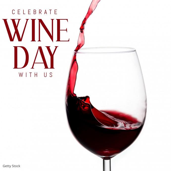 wine day template Instagram Plasing