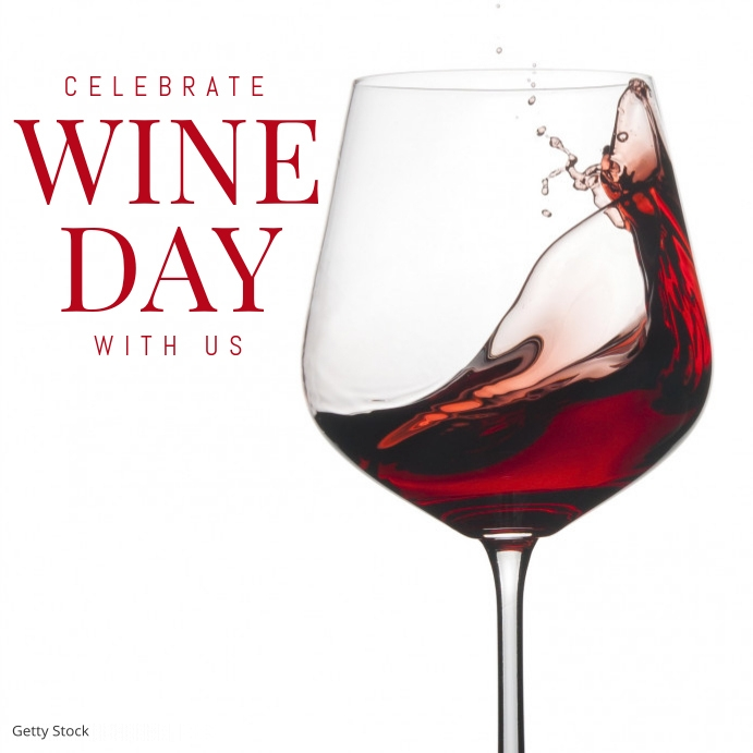 wine day template Instagram Plasing