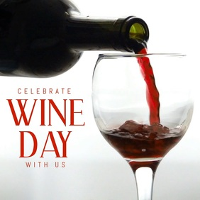 wine day template Instagram Post