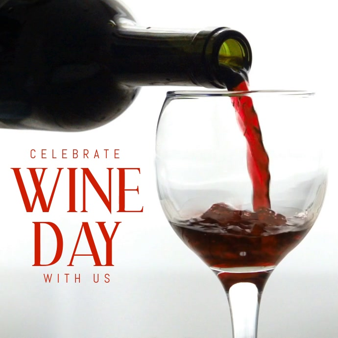 wine day template Instagram-opslag
