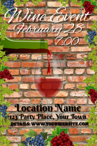 Wine Event Advert Invitation