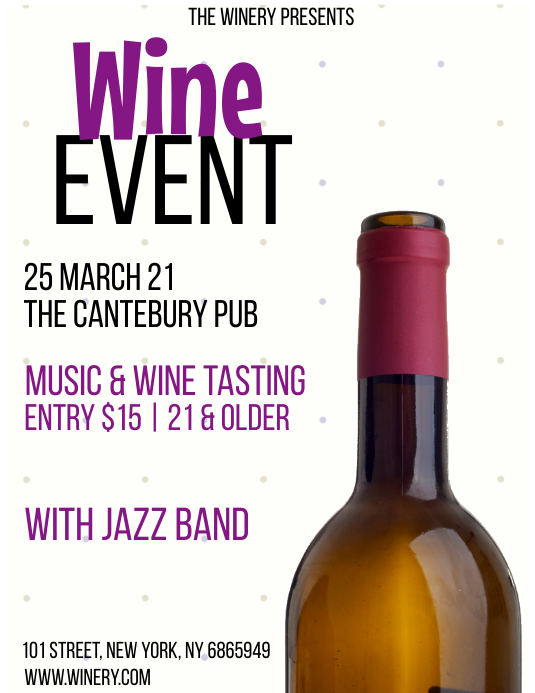 WINE EVENT Pamflet (Letter AS) template