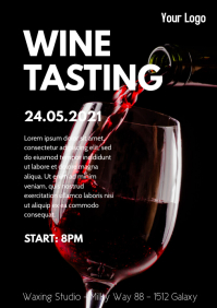 Wine Event Tasting Expo Fair Template Flyer