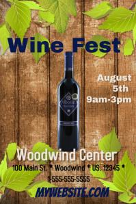 Wine Fest Template Плакат