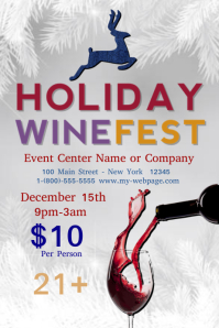 Wine fest Poster template