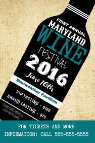 Customizable Design Templates For Wine Festival