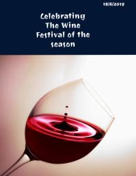 Wine flyer Рекламная листовка (US Letter) template