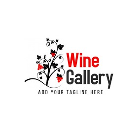 Wine gallery bar logo template