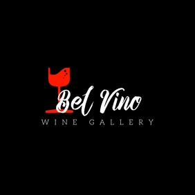 Wine gallery bar logo Логотип template