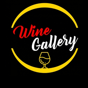 Wine gallery colorful logo Logotipo template