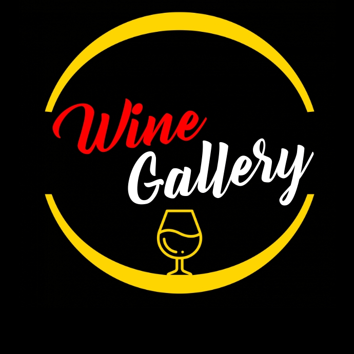 Wine gallery colorful logo template