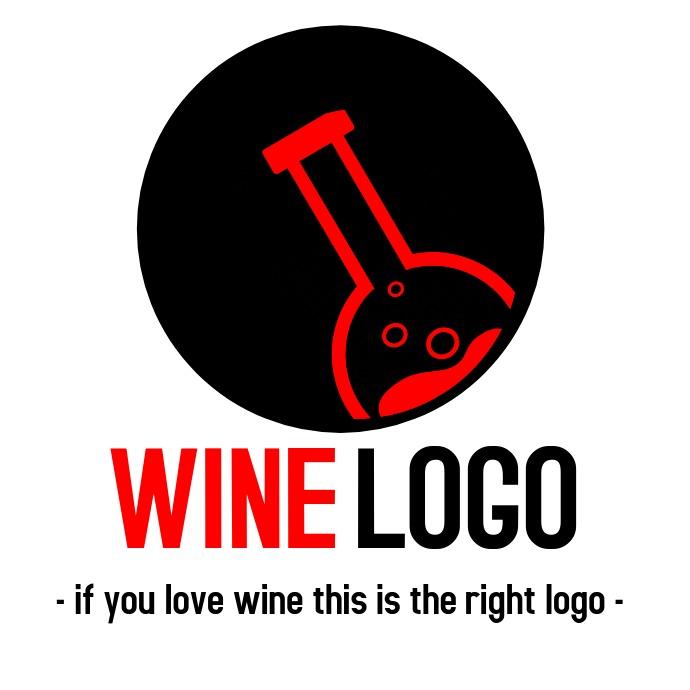 Wine logo Black version template