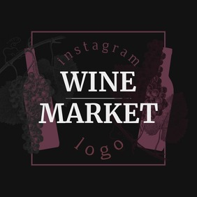 Wine Market Instagram Profile Logo template