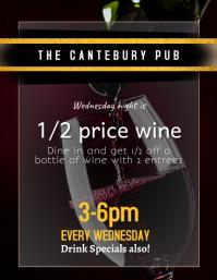 Wine Night Restaurant Special Flyer