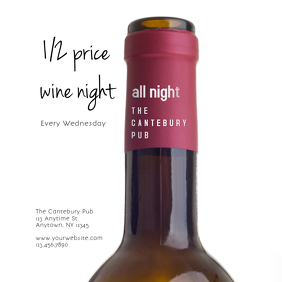 Wine Night Special for Pubs, Bars, and Restaurants Instagram