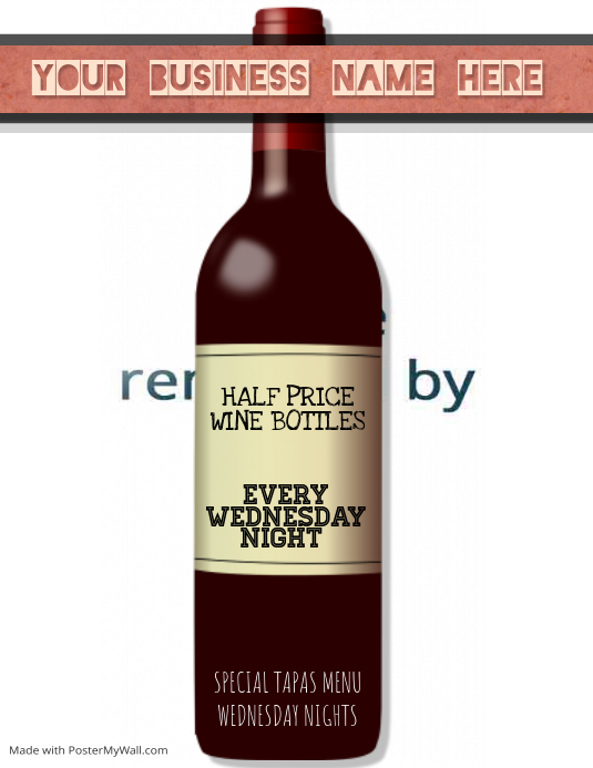 wine night specials Flyer Template