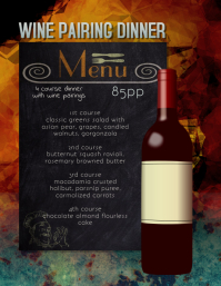 wine Pairing Dinner Flyer Template