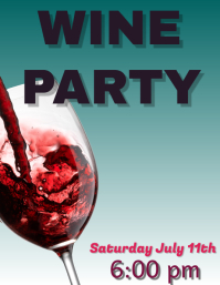 WINE PARTY BAR FLYER