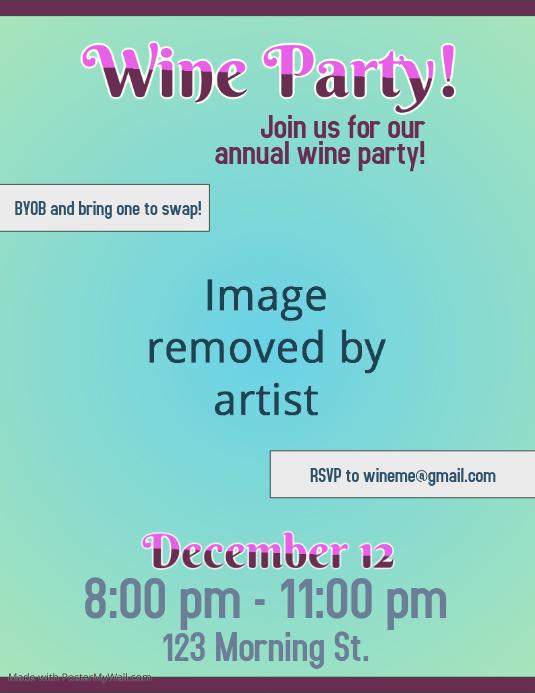 Wine Party Flier