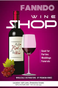 wine poster flyer