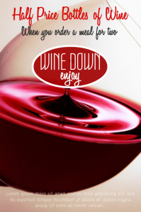 Wine Promotion Poster Template