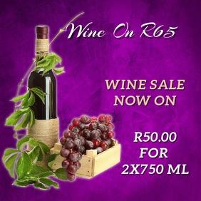 wine sales Instagram Plasing template