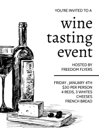 Wine Taste Event Flyer Iflaya (Incwadi ye-US) template