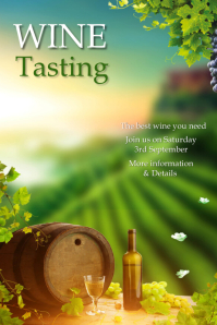 Wine tasting, event Plakat template