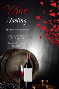 Wine tasting, event โปสเตอร์ template