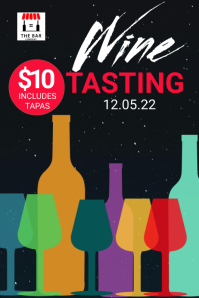 Wine Tasting Bar Event Poster Template