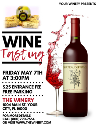 Wine Tasting Flyer (US Letter) template