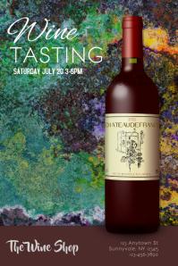 Wine Tasting Dinner Pairing Flyer Poster template