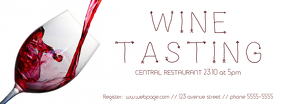 Wine Tasting Event Facebook Cover template