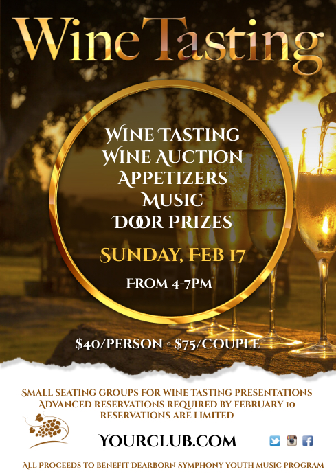 Wine Tasting Event Poster