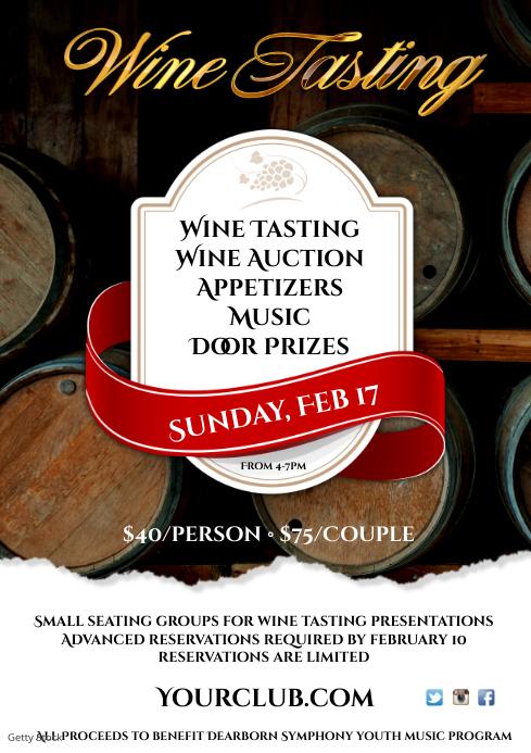 Wine Tasting Event Poster