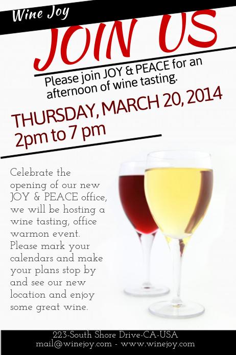 Wine Tasting Event Flyer Carnavaljmsmusicco - Wine tasting event flyer template free