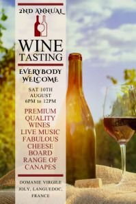 Wine Tasting Event Poster Template