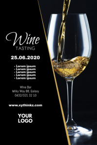 Wine Tasting Event Seminar Expo Bar Flyer