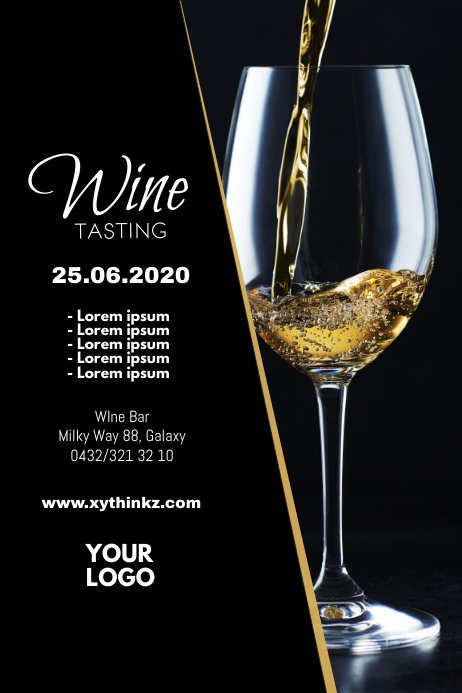 Wine Tasting Event Seminar Expo Bar Flyer
