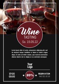 Wine Tasting Event Shop Store drinks Flyer ad A4 template