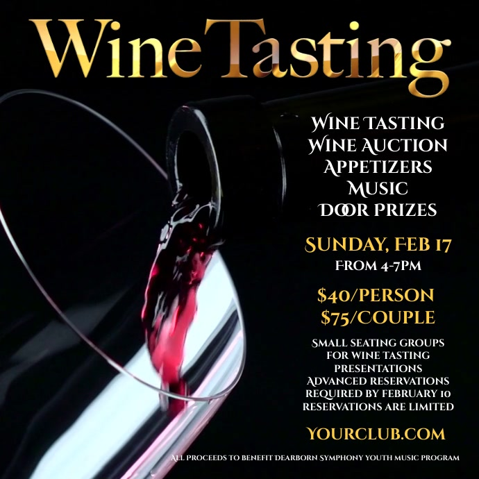 Wine Tasting Event Template