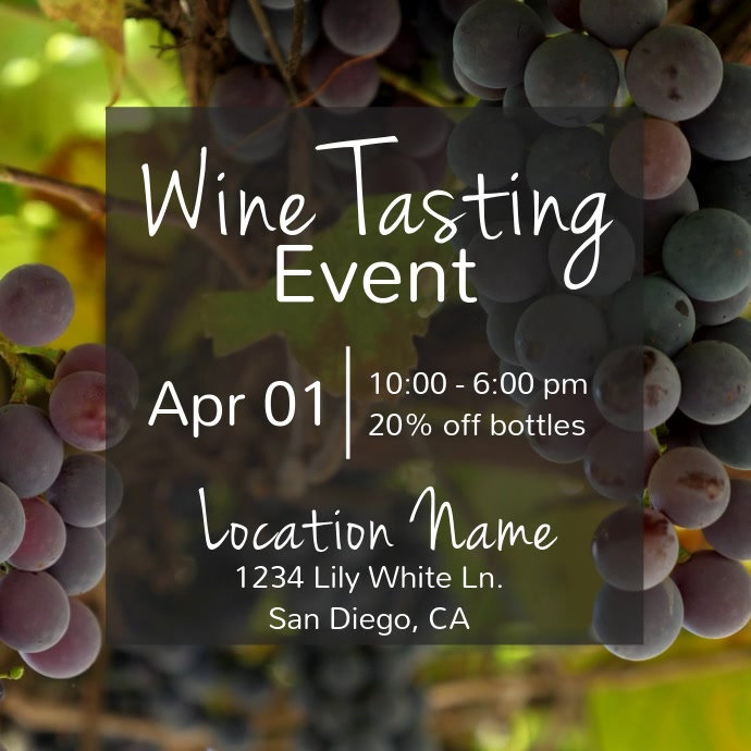 Wine Tasting Event Video