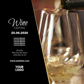 Wine Tasting Event video Template Advert shop