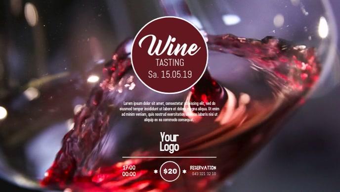 Wine Tasting Event video Template Advert shop