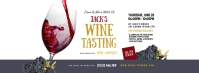 Wine Tasting Facebook Cover Photo template