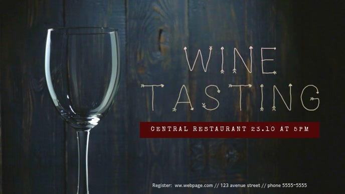 Wine Tasting Facebook Cover Video Template