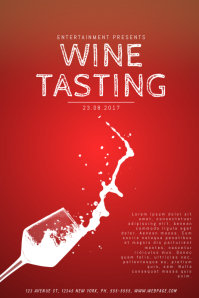 Customizable design templates for wine tasting flyer postermywall wine tasting flyer template maxwellsz