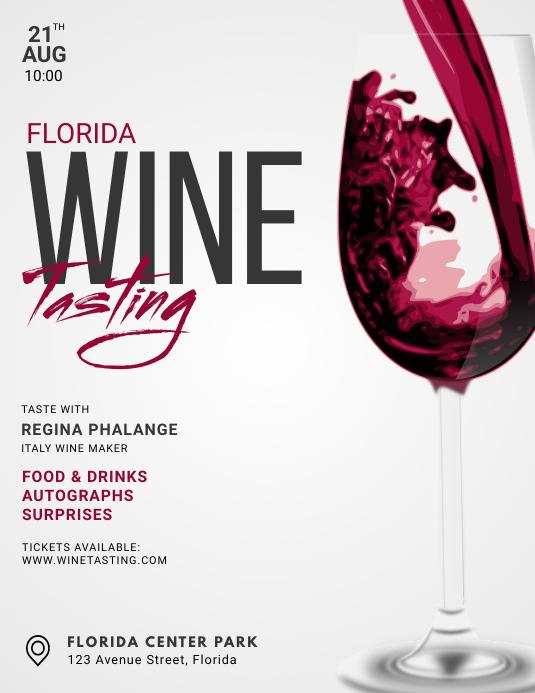 wine tasting Flyer Template Pamflet (Letter AS)