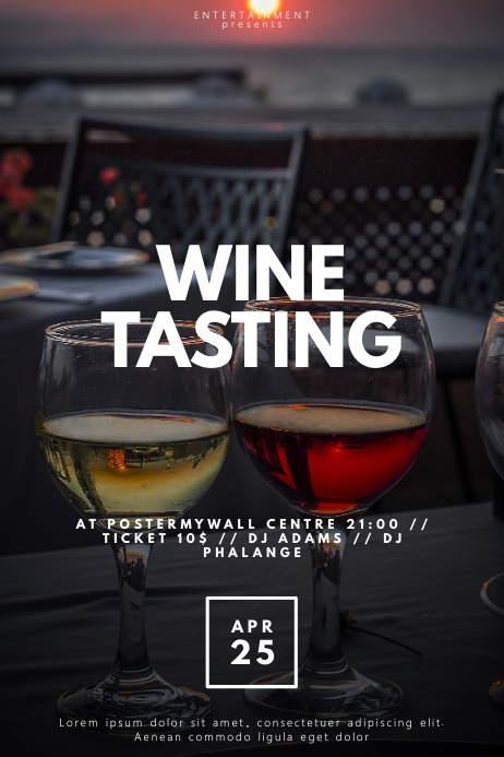 Wine tasting Flyer Template Poster